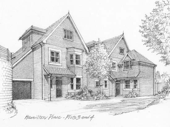 B-W Pencil street scene B 110514