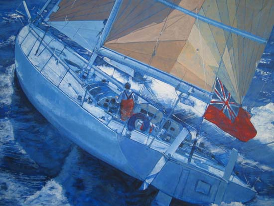 Illustration of ocean racing yacht110514